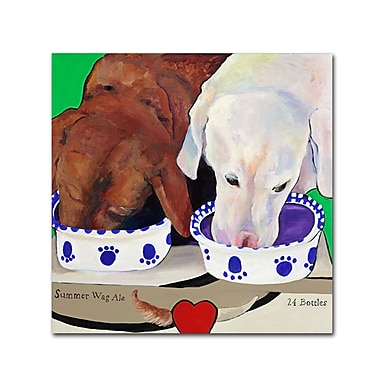 Trademark Fine Art Pat Saunders 'Summer Wag Ale' Canvas Art 14x14 Inches