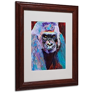 Pat Saunders 'Thor' Matted Framed Art - 11x14 Inches - Wood Frame