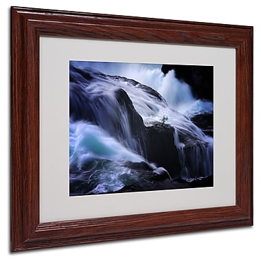 Philippe Sainte-Laudy 'Liquide Illusion' Matted Framed Art - 11x14 Inches - Wood Frame