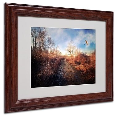 Philippe Sainte-Laudy 'Blast of Wind' Matted Framed Art - 11x14 Inches - Wood Frame