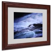 Philippe Sainte-Laudy 'Blue Stream' Matted Framed Art - 11x14 Inches - Wood Frame