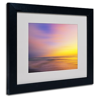 Trademark Fine Art Philippe Sainte-Laudy 'Metallic Sunset' Matted Art Black Frame 11x14 Inches