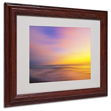Philippe Sainte-Laudy 'Metallic Sunset' Matted Framed Art - 11x14 Inches - Wood Frame