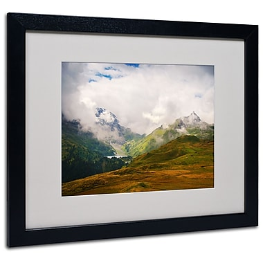 Trademark Fine Art Philippe Sainte-Laudy 'Peaceful Switzerland' Matted Black Frame 16x20 Inches