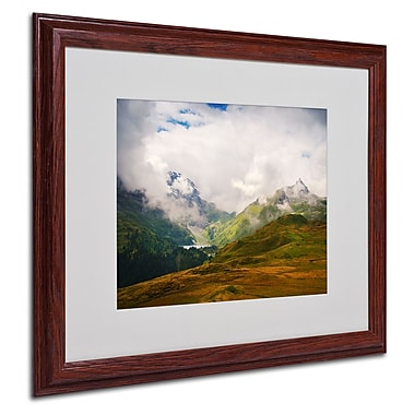 Philippe Sainte-Laudy 'Peaceful Switzerland' Matted Framed - 16x20 Inches - Wood Frame