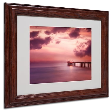 Philippe Sainte-Laudy 'Rose Bonbon' Matted Framed Art - 11x14 Inches - Wood Frame