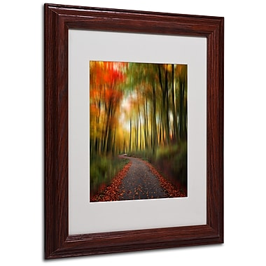 Philippe Sainte-Laudy 'The Lost Path' Matted Framed Art - 11x14 Inches - Wood Frame