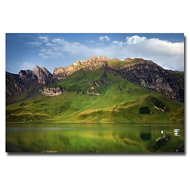 Trademark Fine Art Philippe Sainte Laudy 'Green Mirror' Canvas Art 16x24 Inches