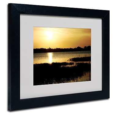 Trademark Fine Art Patty Tuggle 'End of the Day' Matted Art Black Frame 11x14 Inches