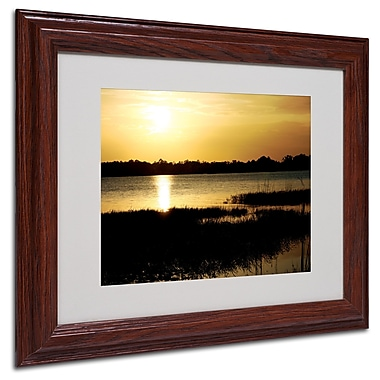 Patty Tuggle 'End of the Day' Matted Framed Art - 11x14 Inches - Wood Frame