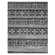Trademark Fine Art Black and White Tiles by Patty Tuggle-Canvas Art