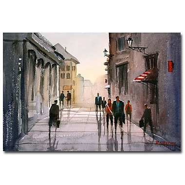 Trademark Fine Art Ryan Radke 'A Stroll in Italy' Canvas Art 16x24 Inches