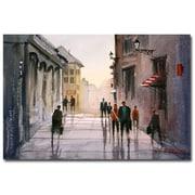 Trademark Fine Art Ryan Radke 'A Stroll in Italy' Canvas Art 22x32 Inches