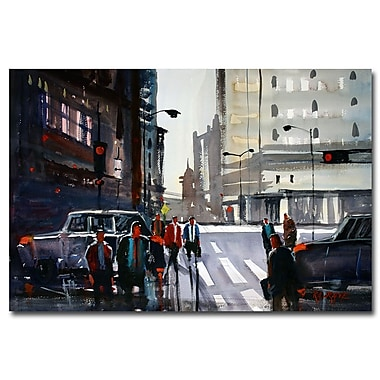 Trademark Fine Art Ryan Radke 'Busy City-Chicago' Canvas Art 22x32 Inches