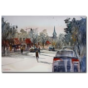 Trademark Fine Art Ryan Radke 'Cedarburg Impressions of Summer' Canvas Art 30x47 Inches