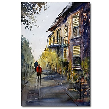 Trademark Fine Art Ryan Radke 'Cedarburg Shadows' Canvas Art 30x47 Inches