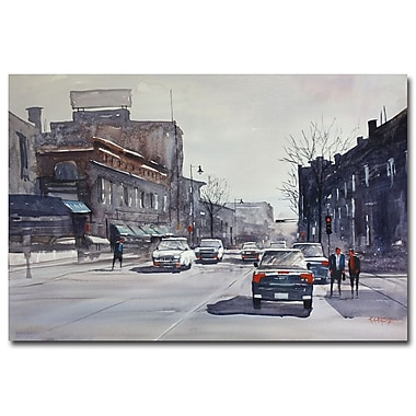 Trademark Fine Art Ryan Radke 'Cool City' Canvas Art 16x24 Inches