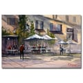 Trademark Fine Art Ryan Radke 'Dining Alfresco' Canvas Art 16x24 Inches