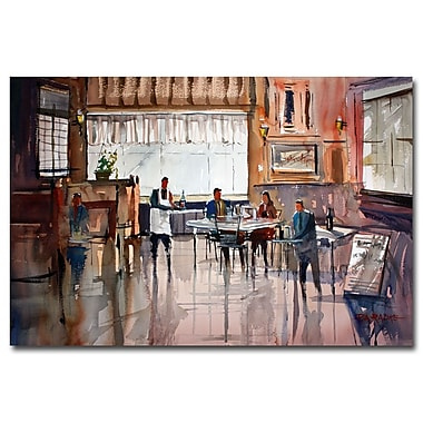 Trademark Fine Art Ryan Radke 'Dinner for Two' Canvas Art 30x47 Inches