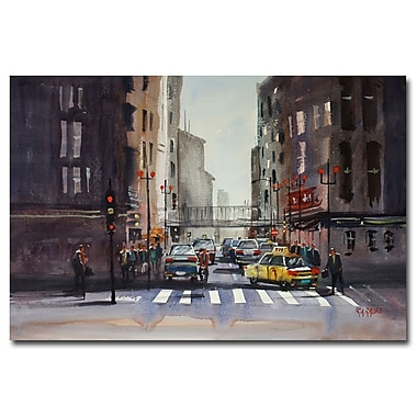 Trademark Fine Art Ryan Radke 'Downtown Chicago' Canvas Art 16x24 Inches