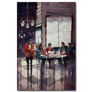 Trademark Fine Art Ryan Radke 'Fine Dining' Canvas Art 16x24 Inches