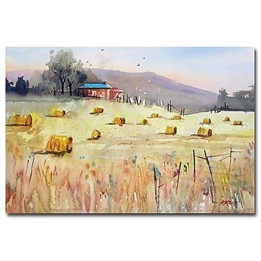 Trademark Fine Art Ryan Radke 'Hay Bales' Canvas Art 22x32 Inches