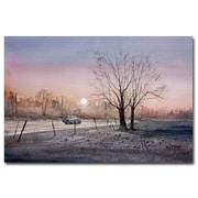 Trademark Fine Art Ryan Radke 'Highway 21 Sunrise' Canvas Art 22x32 Inches