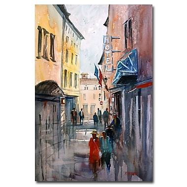 Trademark Fine Art Ryan Radke 'Italian Impressions III' Canvas Art 16x24 Inches