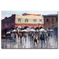 Trademark Fine Art Ryan Radke 'Itallian Marketplace' Canvas Art 30x47 Inches