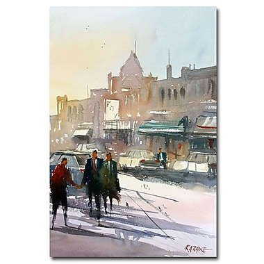 Trademark Fine Art Ryan Radke 'Meet Me Downtown' Canvas Art 16x24 Inches