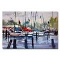 Trademark Fine Art Ryan Radke 'Menominee Marina' Canvas Art 30x47 Inches