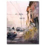 Trademark Fine Art Ryan Radke 'Old Wautoma Hotel' Canvas Art 24x32 Inches