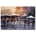 Trademark Fine Art Ryan Radke 'Outdoor Market-Rome' Canvas Art 30x47 Inches