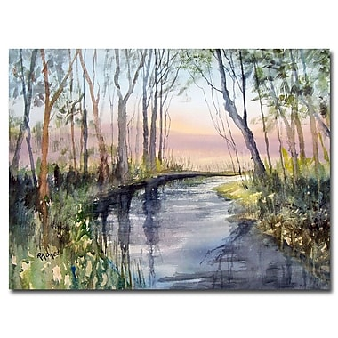 Trademark Fine Art Ryan Radke 'River Reflections' Canvas Art 22x32 Inches