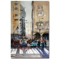 Trademark Fine Art Ryan Radke 'Rush Hour-Chicago' Canvas Art 16x24 Inches