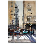 Trademark Fine Art Ryan Radke 'Rush Hour-Chicago' Canvas Art 22x32 Inches