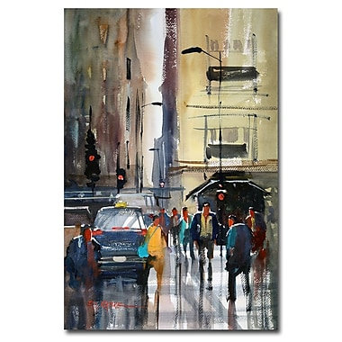 Trademark Fine Art Ryan Radke 'Rush Hour II-Chicago' Canvas Art 16x24 Inches