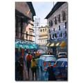 Trademark Fine Art Ryan Radke 'Strangers in Rome' Canvas Art 16x24 Inches