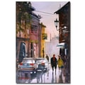 Trademark Fine Art Ryan Radke 'Street Strolling in Greece' Canvas Art 16x24 Inches