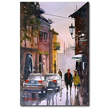 Trademark Fine Art Ryan Radke 'Street Strolling in Greece' Canvas Art