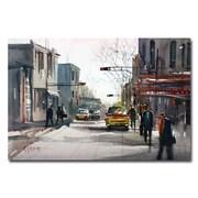 Trademark Fine Art Ryan Radke 'Taxi' Canvas Art 30x47 Inches