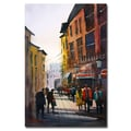 Trademark Fine Art Ryan Radke 'Tourists in Italy' Canvas Art 16x24 Inches