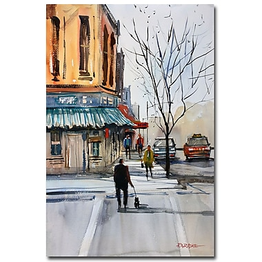 Trademark Fine Art Ryan Radke 'Walking the Dog Steven's Point' Canvas Art