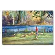 Trademark Fine Art Ryan Radke ' Wautoma Mill Pond' Canvas Art 16x24 Inches