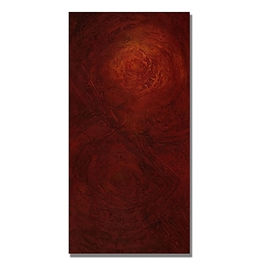 Trademark Fine Art Rachel Rouse 'Absent in Body, Present in Spirit' Canvas Art 12x24 Inches