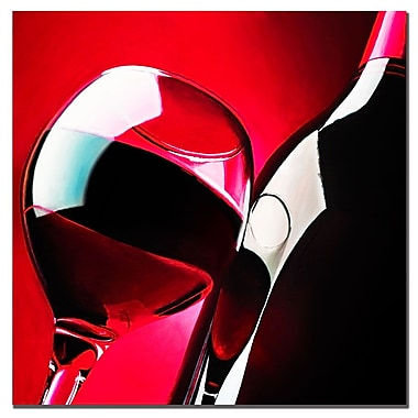 Trademark Fine Art Roderick Stevens 'Red Wine' Canvas Art 18x18 Inches