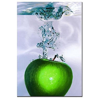 Trademark Fine Art Roderick Stevens 'Apple Splash II' Canvas Art