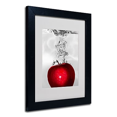 Trademark Fine Art Roderick Stevens 'Red Apple Splash' Framed Matted Art