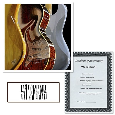 Trademark Fine Art Music Store by Roderick Stevens Giclee Art 14x14 Inches