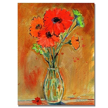 Trademark Fine Art Shelia Golden 'Daisy Vase' Canvas Art 35x47 Inches
